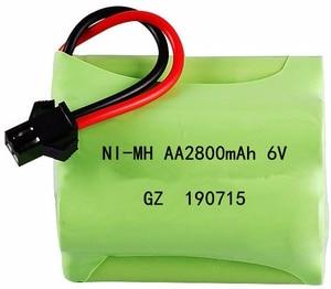 Image 3 - (SM Stecker) ni mh 6v 2800mah Batterie + USB Ladegerät Für Rc spielzeug Autos Tanks Lkw Roboter Boote Pistolen AA 6v Akku Pack