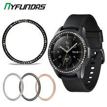 Glitter Metalen Bezel Ring Styling Voor Samsung Galaxy Horloge Gear S3 Frontier Klassieke S2 46Mm 42 Mm 46 42mm Sport Cover Accessoires