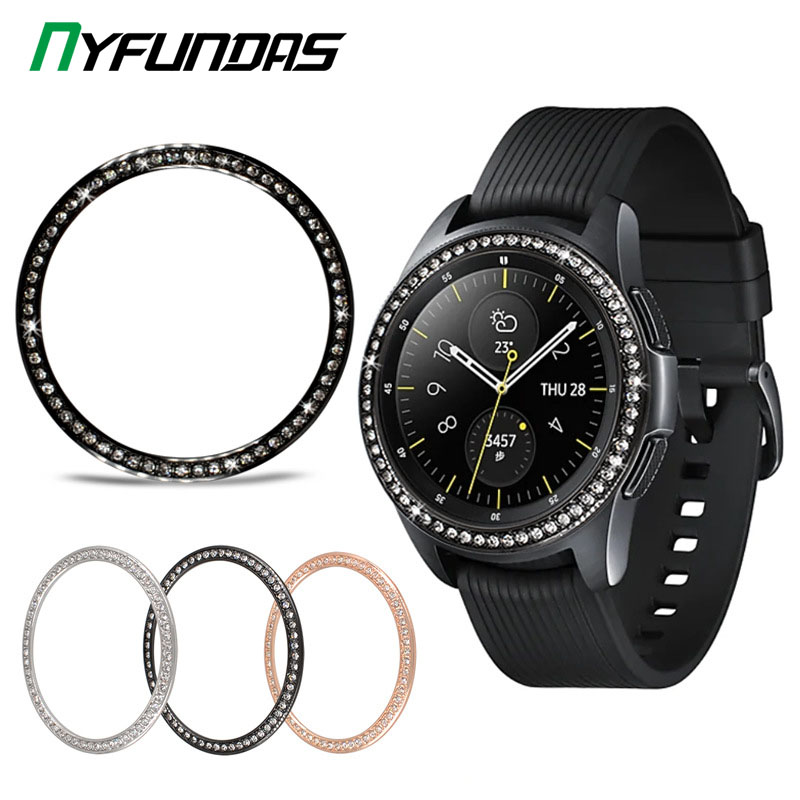 Glitter Metal Bezel Ring Styling for Samsung Galaxy Watch Gear S3 Frontier Classic S2 46mm 42mm 46 42 MM Sport Cover Accessories