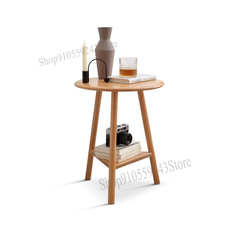 Solid Wood Side Table Modern Minimalist, Small Side Tables For Living Room With Storage