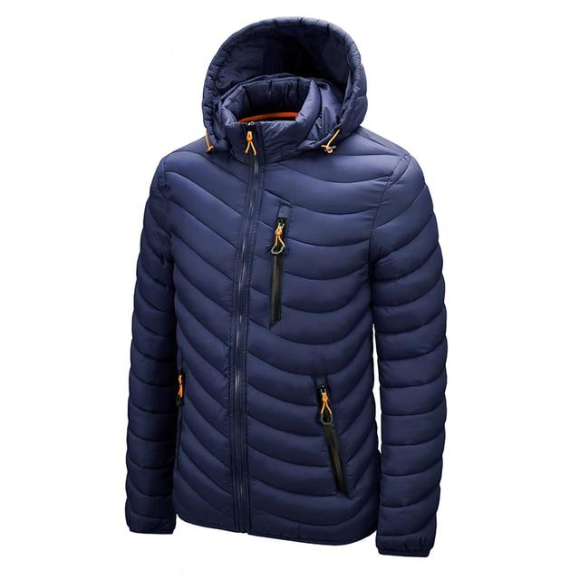 Warm Jacket Men Windbreaker 2021 Latest New Spring Autumn Hooded Soft Parkas Men's Fashion Casual High Quality Jacket Coat Male 3