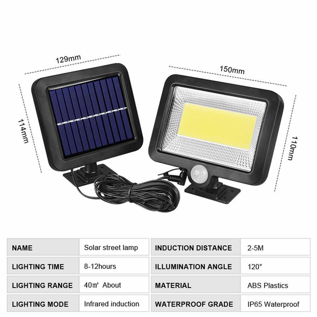 COB 100 LED พลังงานแสงอาทิตย์ Motion Sensor สวนกลางแจ้งโคมไฟรักษาความปลอดภัย Spotlight แสงแดด Street 3.2