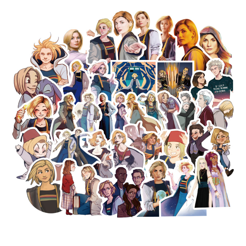 New 50pcs Doctor Who Tardis Stickers Sets Anime Sticker Lot For Laptop Bicycle Phone Guitar Marvel Cartoon Stickers Pack
