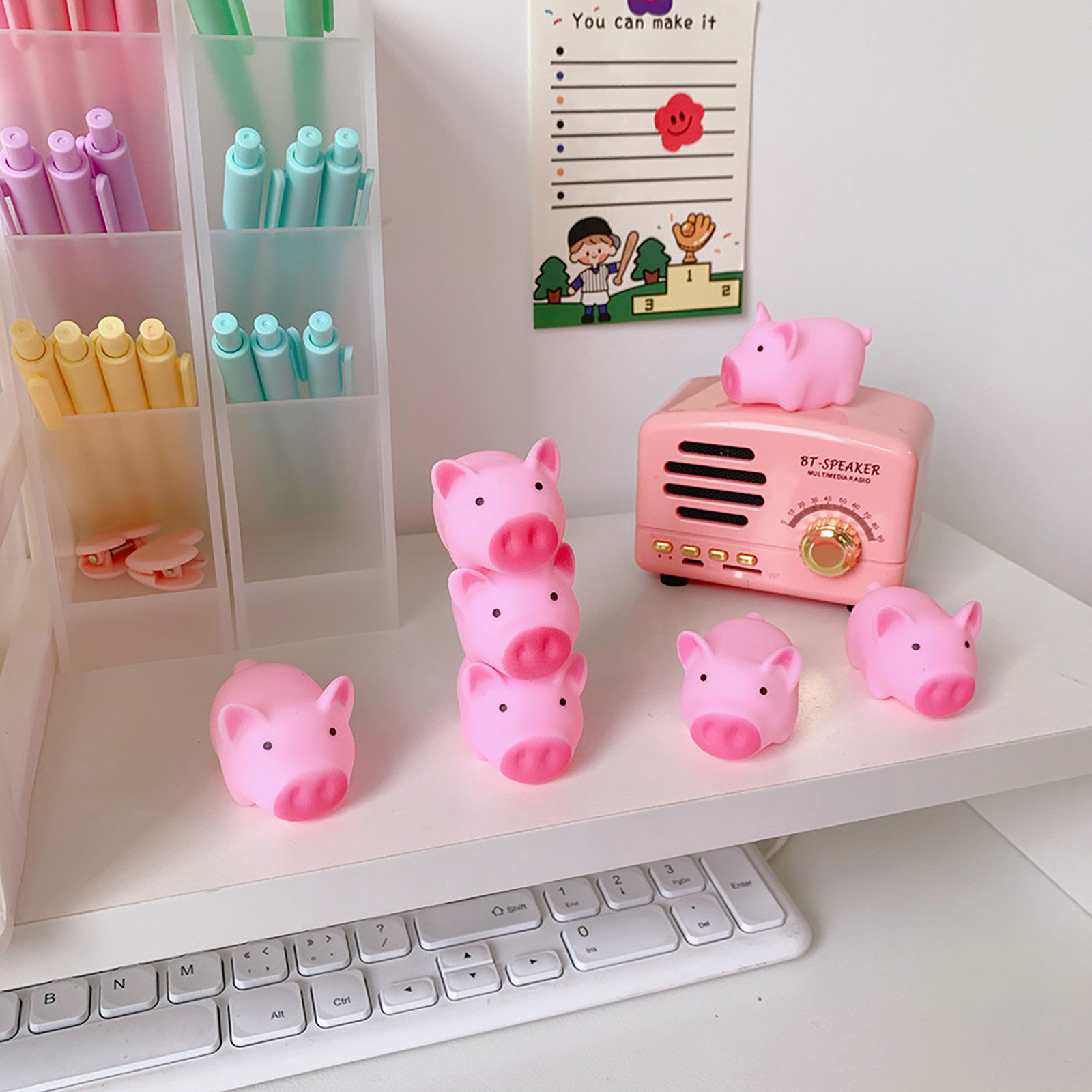 Snailhouse New Cartoon Soft Cute Pink Pig Toy Pig Cute Pink Toy To Vent Children Bath Pig Pinching Joys Stress Vent Toy#4 img2