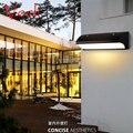 Современные светодиодные наружные водонепроницаемые Настенные светильники балкон забор lampara внешняя вилла сад жилое сообщество популярна...