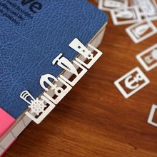 Metal Bookmarks Stationery Paper-Clip Page-Holder School-Supplies Marine-Series Music