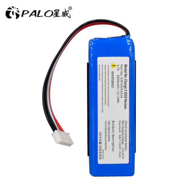 2021 novo 3.7v 6000mah/22.2wh bateria para gsp1029102a bateria para jbl carga 3 2016 versão bateria