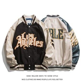 Chaqueta de béisbol bordada para hombre y mujer, chaqueta de béisbol bordada para primavera y otoño, Unisex, estilo hip hop para parejas, 2021 1