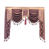 European and American Style High quality tailored Valance for living room bedroom windows hotel apartment kitchen