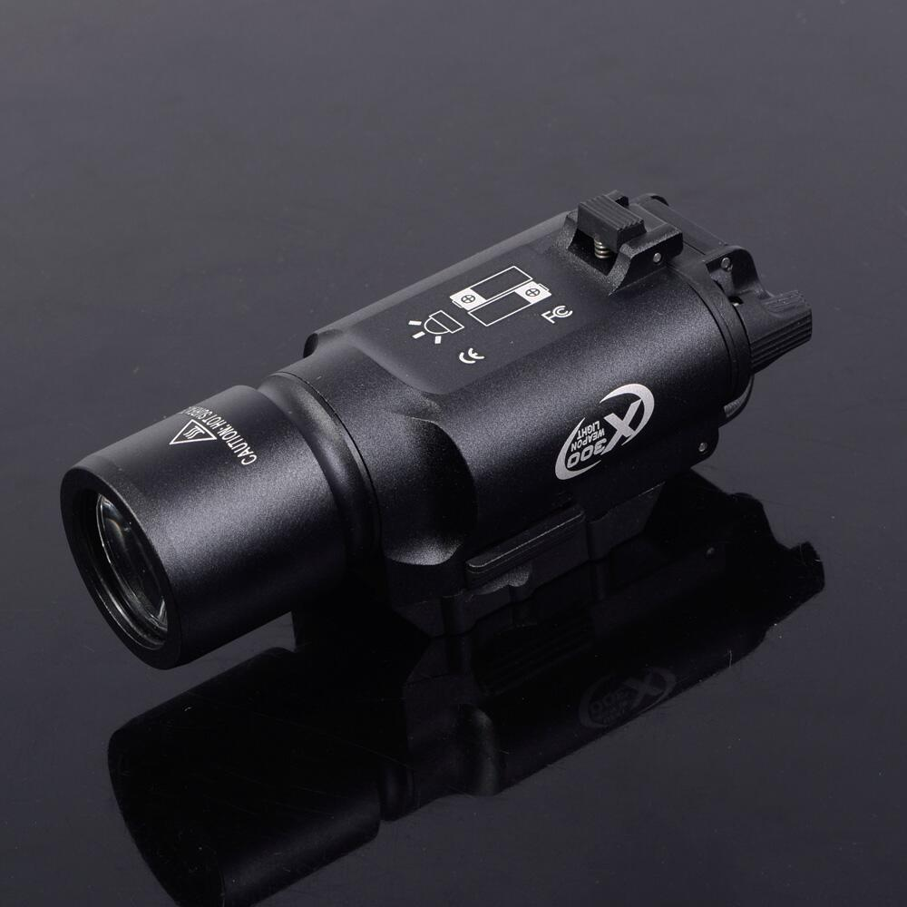 Tactical Surefire X300 Weaponlight LED CR123A Pistol Lanterna Airsoft Flashlight with Picatinny Rail  Hunting PP15-0026