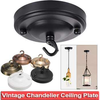 1/2/4pcs Vintage Iron Ceiling Rose Hook Plate Holder DIY Pendant Lamp Decoration Retro Ceiling Holder For Light Fitting D40 2 4 10pcs set diy parts edison light pendant lamp part of the ceiling plate d68mm small iron canopy diy pendant ceiling mount