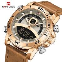 NAVIFORCE Sport Uhren Männer Wasserdichte Digital Military Quarz Armbanduhr Männlichen Luxus Analog Wecker Uhr Relogio Masculino
