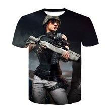 2020 Summer New PUBG 3D t shirt Men/women Fashion Harajuku Short Sleeves 3D Print PUBG Men's T Shirt Hot Game T-Shirt Clothes