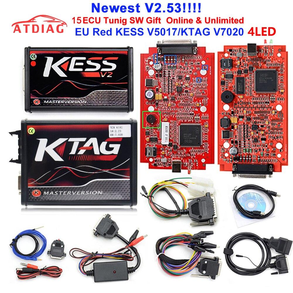 Ktag K-TAG V7.020 KESS V2 V5.017 SW V2.47 Master ECU Chip Tuning Tool K-TAG 7.02