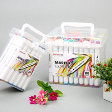 48 cor marca caneta estudantes álcool pintura a óleo 24 cor duplo marcadores conjunto 80 marcador de cor