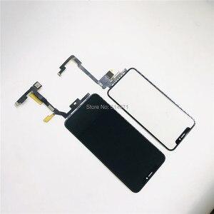 Image 4 - Черный сенсорный экран с удлинителем, гибкий кабель без пайки для iPhone X Xsmax 11pro Max, запасные части