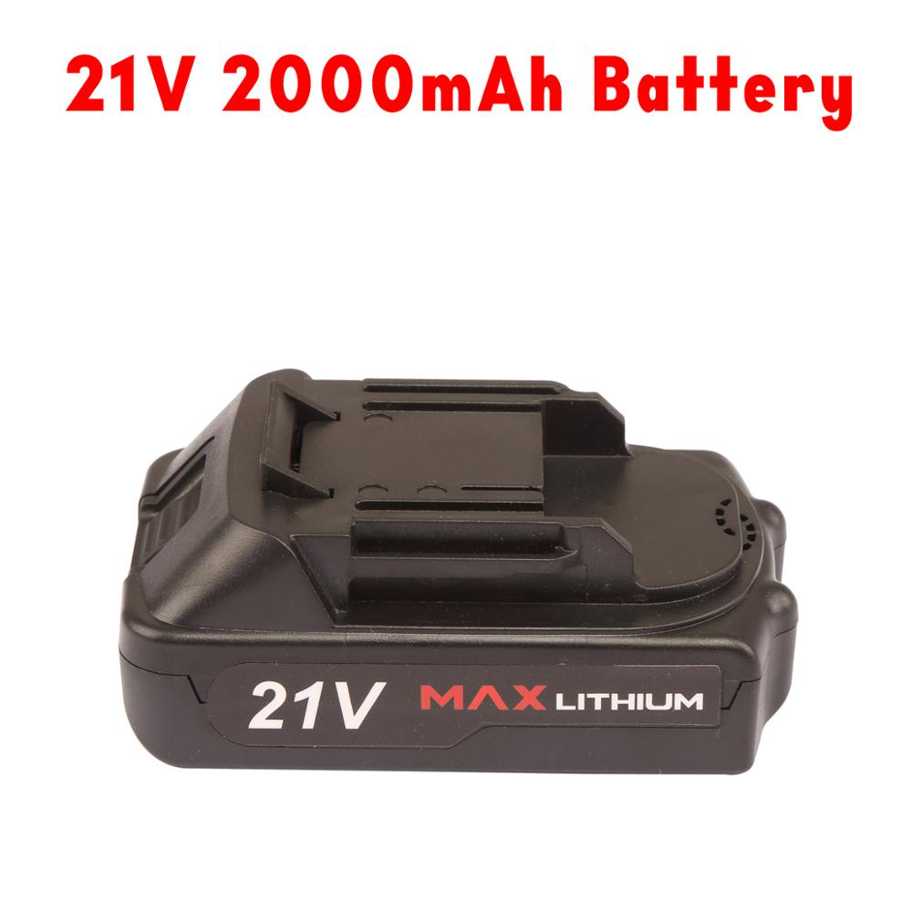 Li 21V 21V Electric Wrench Battery 4000mAh Battery Ion Fast Charging PROSTORMER Cordless For Wrench