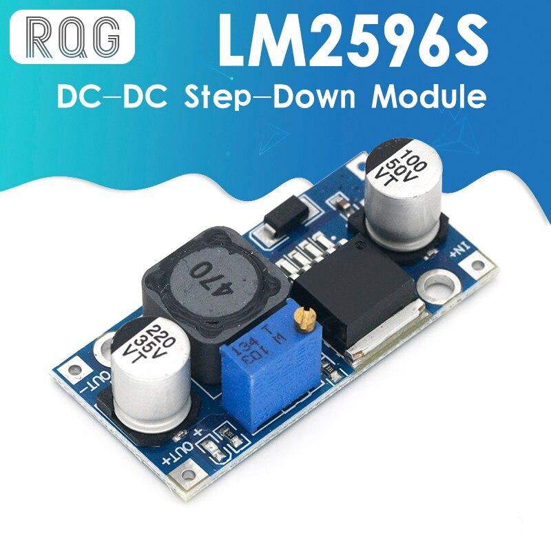 LM2596s DC-DC понижающий модуль питания 3A Регулируемый понижающий модуль LM2596 регулятор напряжения 24 в 12 В 5 в 3 в