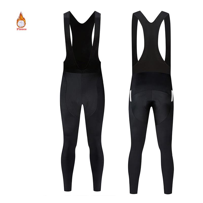 Winter Warm Fleece Pants for Women Unisex Reflective Pants Men's Mtb Downhill Cycling Bicycle Bib Pants High-quality Bike Tights