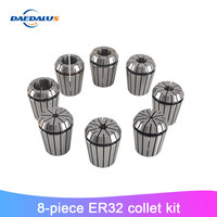 8pcs ER32 Spring Collet Set High Precision Workholding Lathe Tool Collet For CNC Engraving Machine Milling Motor