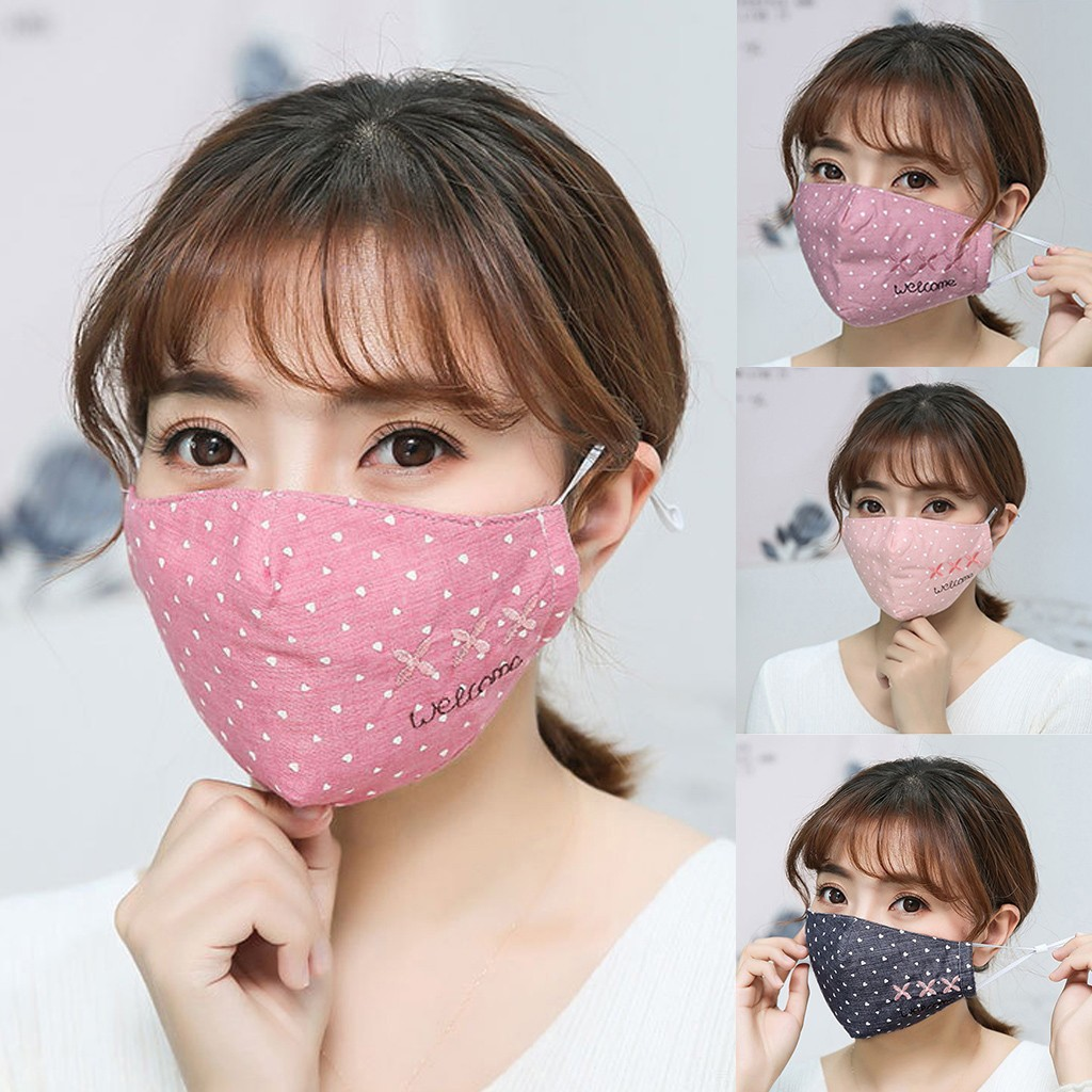 Simple Cotton Mask Unisex Cycling Breathable Mouth Face Mask Women Men Star Print Outdoor Face Mouth Mask Cover Dropshipping
