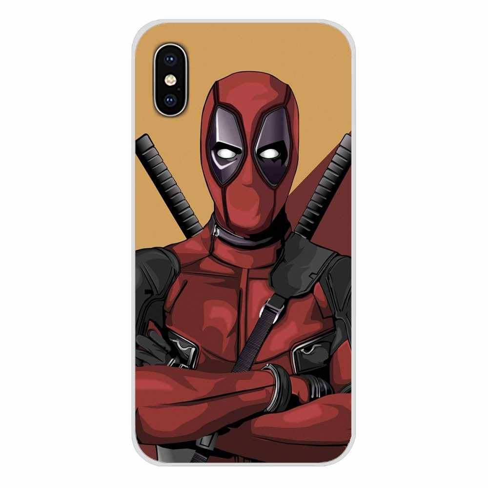 Para Xiaomi mi 4 mi 5 mi 5S mi 6 mi A1 A2 A3 5X 6X 8 CC 9 T Lite SE Pro superhéroe deadpool de Marvel accesorios cubiertas de los casos del teléfono