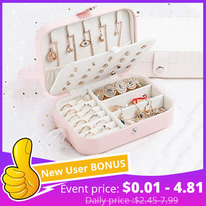 Plate Ring Jewelry-Box Fresh Multi-Function Girl Korean-Style Protable Simple And