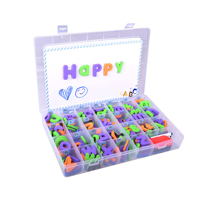 Presentation Supplies Magnet Sheets Baby Toys 208pcs Letters Kids Alphabet Fridge Magnet Child Educational Fridge Sticker