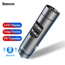 Baseus Car Charger Bluetooth 5.0 FM Transmitter Modulator Handsfree Audio Receiver Auto MP3 Player 3.1A Dual USB Fast Charger