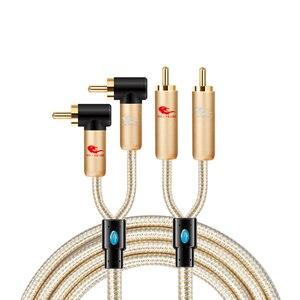 2 RCA męski na męski na 2 RCA kabel Audio do wzmacniacza głośnik Subwoofer System Hi-Fi kina domowego Stereo System Audio RCA Y Splitter przewód
