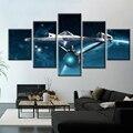 5 шт., плакат на холсте, кино, фантазия, HD, Настенная картина, космос, Вселенная, космический корабль, плакат, холст, живопись, настенное искусс...