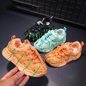 New Summer Rainbow Kids sport Shoes For Girls Sneakers Students Breathable tennis Children Shoes Girls Sneakers Light Shoes boys