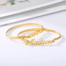 Пользовательское имя Браслеты золотой браслет ручной работы