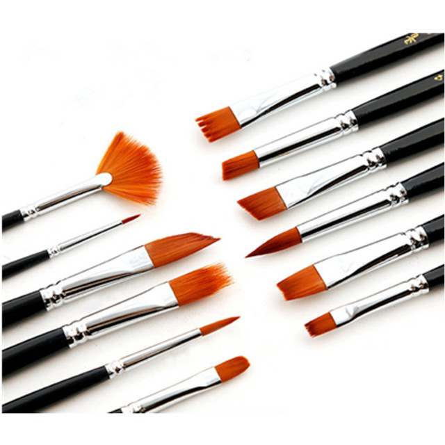 Painting Brushes Detail Set Hook Line Pen Round Point Watercolor Drawing Pen Brush For Paint By Numbers High Quality wolf hair 1