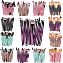 Maange Pro 15Pcs Makeup Brushes Set Eye Shadow Foundation Bubuk Eyeliner Bulu Mata Bibir Kuas Make Up Kosmetik Alat Kecantikan kit Panas(China)