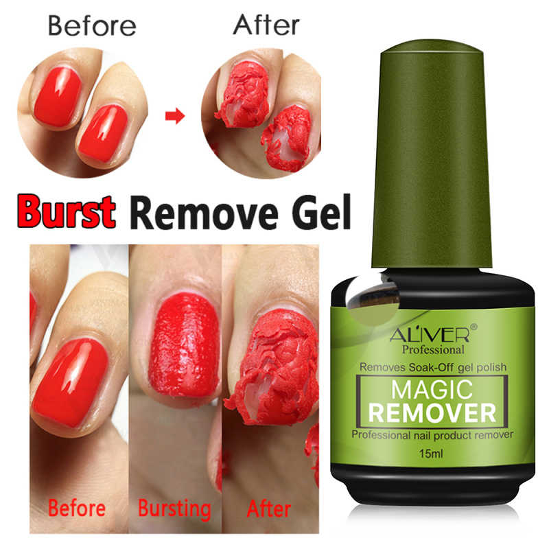 15ml Magic Nail Burst Gel Nagellak Remover Gezonde Gel Polish Remover 2-3min Snelle Losweken UV Nagellak Gel Cleanser TSLM1
