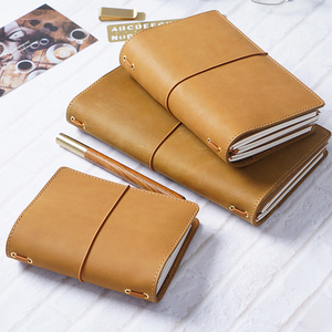 Image 5 - 50 Pieces / Lot Passport 130x105mm Genuine Leather Notebook Handmade Travel Journal With Card Holder Diary Sketchbook Planner