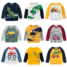 Футболка для мальчиков; Детские хлопковые топы с длинными рукавами для маленьких девочек; детская футболка с рисунком динозавра; одежда для подростков; Одежда для младенцев