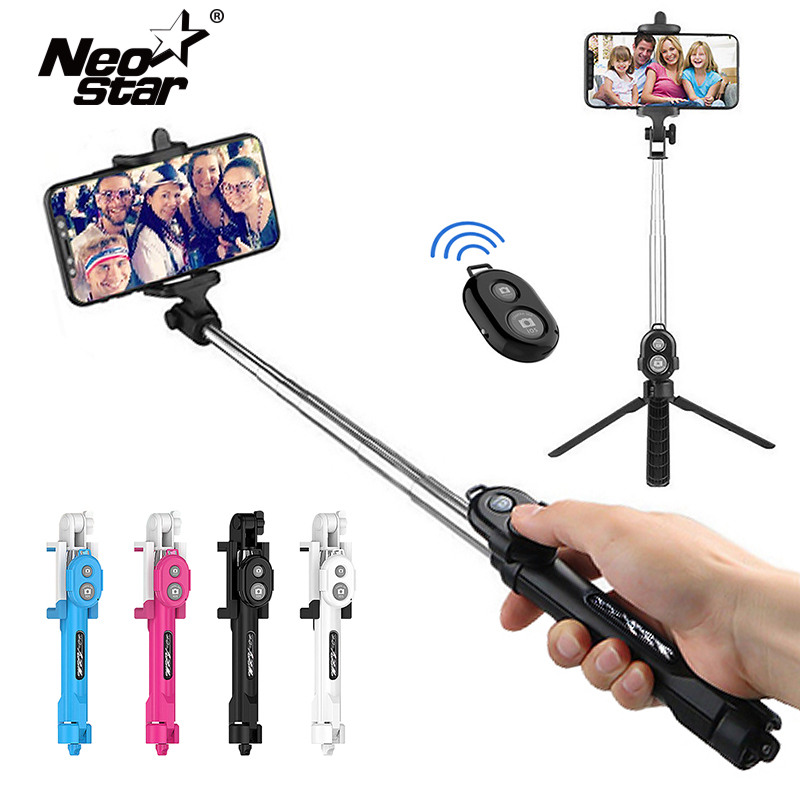 3 IN 1 Wirleless Bluetooth Mini Selfie Stick Remote Extendable Foldable With Tripod For Ios/Android Smartphone For Dropshipping