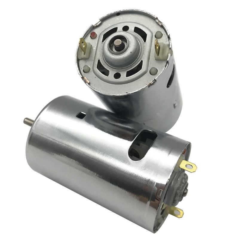 12V 24V Micro DC มอเตอร์ความเร็วสูง 50W 6000/12000/24000RPM Double Ball แบริ่ง Built-In Cooling พัดลมไฟฟ้า Dril