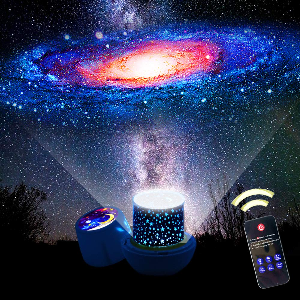 Starry Sky Projector Cosmos Rotation Projection Lamp Colorful Constellation Universe LED Night Light Star Moon For Kids Gift