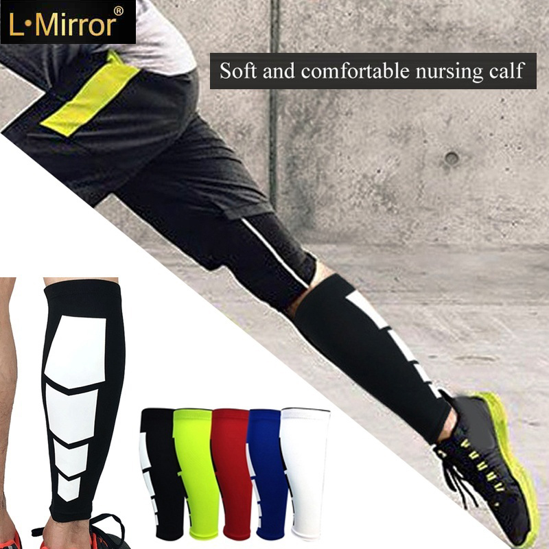 L.Mirror 1Pcs Calf Compression Sleeves Leg Socks Shin Splint Calf Pain Relief For Running Cycling Maternity Travel Nurses-Single