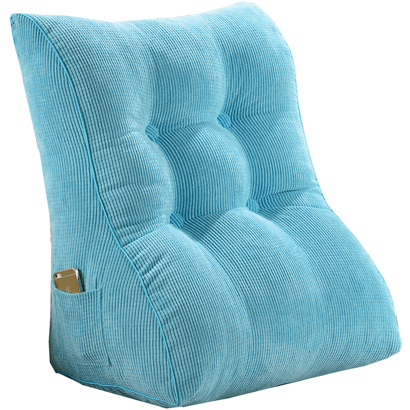 Large Triangle Bed Backrest Cushion Headboard Soft Bag Pillow Chair Cushions Home Decor Living Room Pillows Peluches Gift FK058