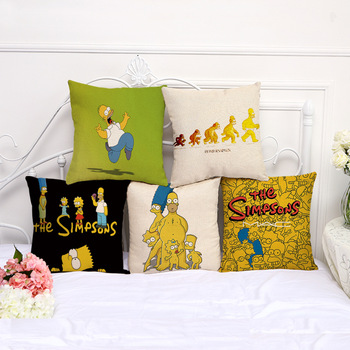 5pcs Family comedy humor The Simpsons Cartoon Character images pillow case Home decoration cushion cover The simpsons fans фото