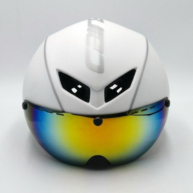 Cairbull capacete de segurança para ciclismo, capacete de segurança branco para andar de bicicleta na estrada, aero, ciclismo de corrida 4