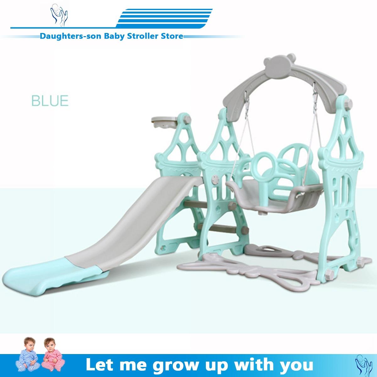 Chaise pivotante 3 en 1 pour bébé   Jeu de diapositives en plastique, basket-ball, histoire, pour la maison, jeux d'enfants, jouet d'intérieur et de famille, jardin d'enfants