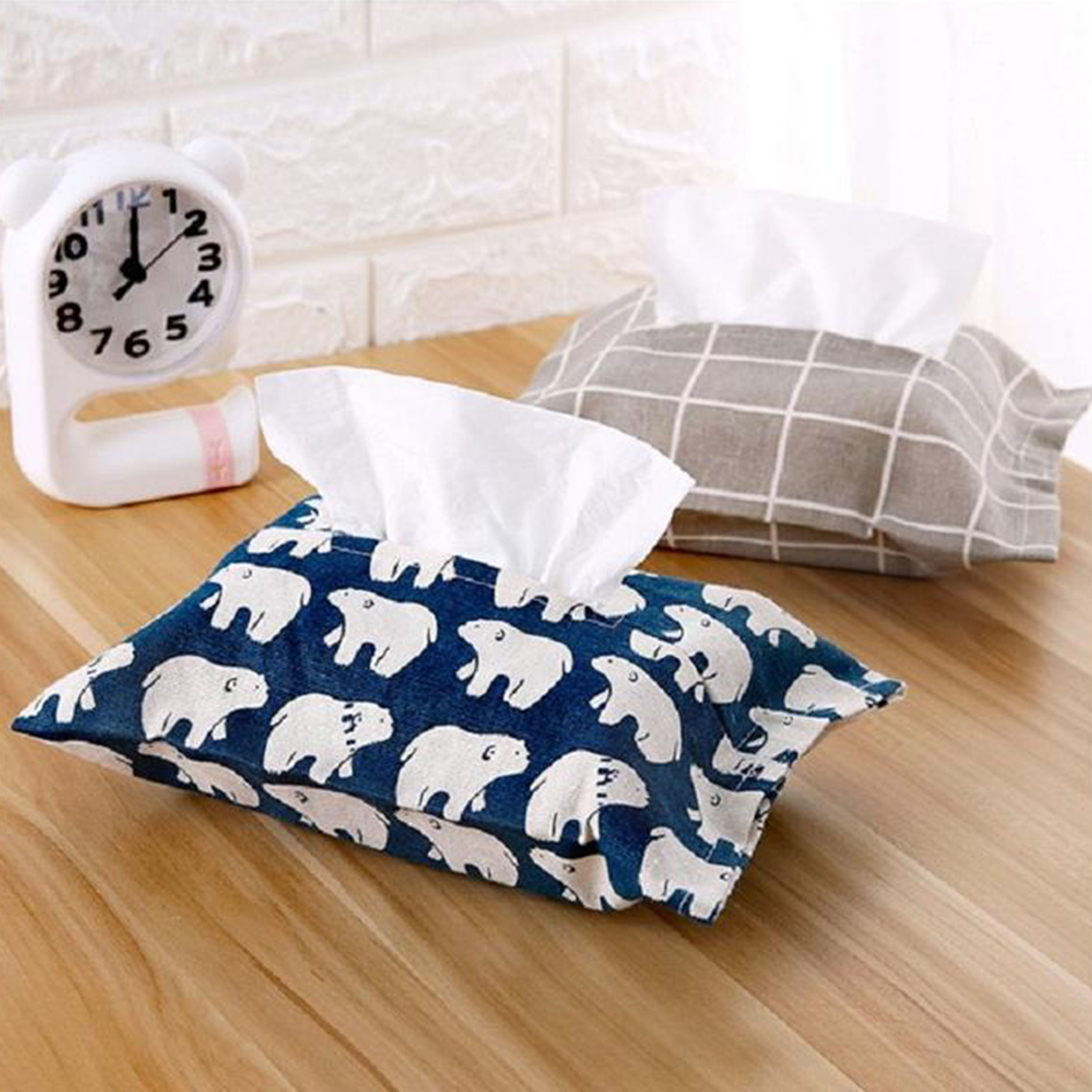 Tissue Box Bathroom Storage Organizer Bin for Toilet Paper Hand Towels Paper Napkin Holder Home Office Car Paper Towel Dispenser