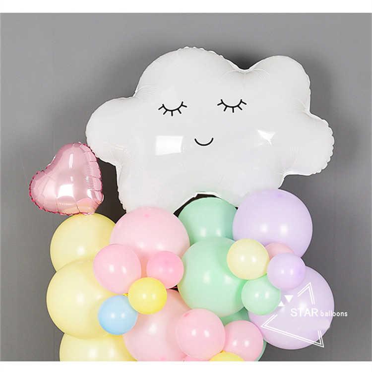 1pcs เด็กทารกเด็กผู้หญิงบอลลูนน่ารัก SMILE สีขาวเมฆบอลลูน PARTY Babyshower ตกแต่งของเล่น Happy วันเกิด