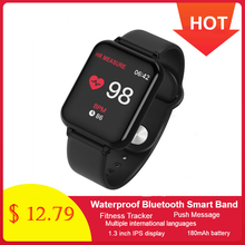 696 B57 Smart Uhr Blutdruck Fitness Tracker Herz Rate Tracker IP67 Wasserdichte Bluetooth Smart Armband Sport Armbanduhr