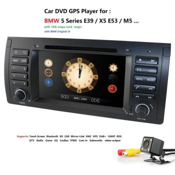 2din car radio dvd gps wince 800X480 Quad core For BMW E39 E53 M5(1996-2007) with Bluetooth Phonelink BT 1080P DAB+ Map rear CAM image
